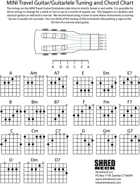 guitalele simple akkorder